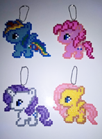 My Little Pony Keychains by HanaMidorikawa
