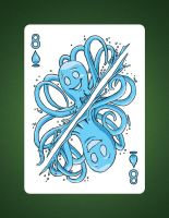 8 of Spades aka 8 of water by LineDetail