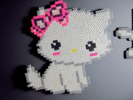 Hello Kitty Perler Creation by MissKawaiiKenzie