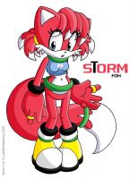 Storm Fox by geN8hedgehog