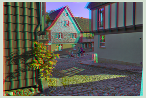 Quedlinburg in the evening 3D ::: DRi Anaglyph by zour