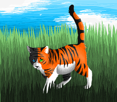 Playing in the tall grass by Wyeth-Kitty