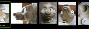 PREORDER toony dog resin base by stuffedpanda-cosplay