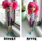 Howleen Wolf [Dance Class] loose hair BeforeAfter by Nastea-AnyMash