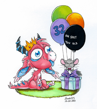 It my birfday by ZombiDJ