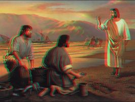 Jesus le Messie 3D Anaglyphe Rouge Cyan by Fan2Relief3D