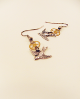 Simple Swallow Earrings by GildedGears