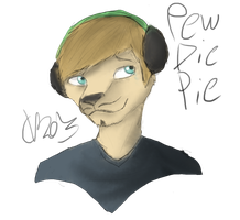 Furry PewDiePie by PonyRave