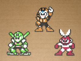 Megaman bead bosses 09 by zaghrenaut