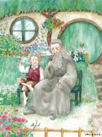 Bilbo and Gandalf by solalis1226