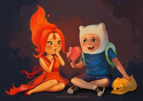 Flaming hearts by limzhilin