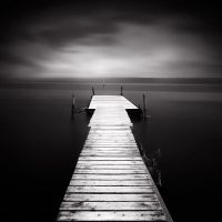Pier on Dark Water by kpavlis