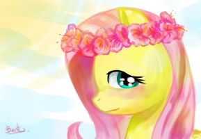 Fluttershy Crown Flower by benkomilk