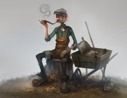 Wheelbarrow by JohnoftheNorth