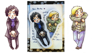 Sherlock bookmarks by Mirabel-chan