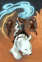 The Legend of Korra Trio by firecloud