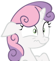 Sweetie Belle Scrunch (Vector) by MMDFantage