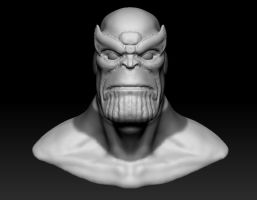 Thanos bust WIP by EvilHayato