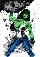 She Hulk By Dlimaart by Kenkira