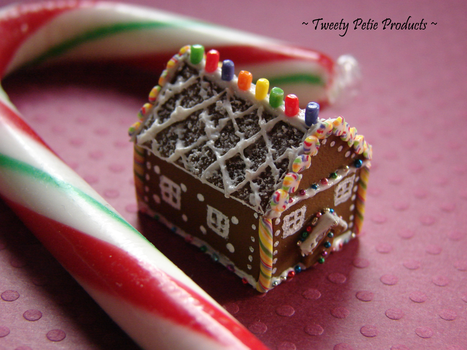 Festive Gingerbread House by birdielover