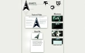 AdaamSTYL website concept (first web design) by JyakuDesigns