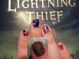 Percy Jackson Nails by AngelAndChangeling