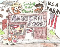 Sanjay and Omars AmericanFood by NewtMan