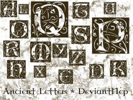 Ancient Letters Brushes by DeviantNep