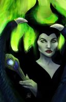 Maleficent by nma-art