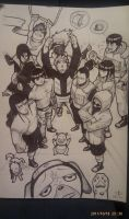 Naruto group shot. by Wedge40