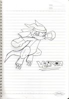 Veemon non-colored by Delta-Frontier