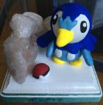 Piplup Statue by Mandiness