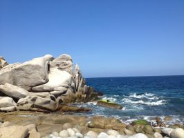 Rocks and Sea. by The-Great-Luigi
