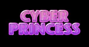 'Cyber Princess' -Plastic Text by GhostArtwork