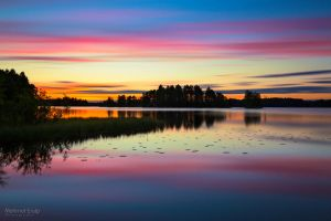 Sunrise in Eerolanlahti by m-eralp