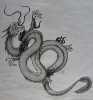 Dragon tattoo design by Aiwe