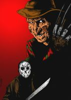 Jason Vs Freddy by hereticMag