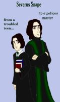 Snape's Transformation by DKCissner