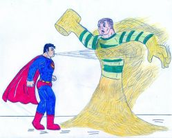 Superman vs Sandman by Jose-Ramiro