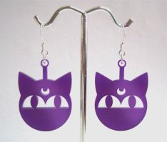 Luna-P Earrings - Purple by aeiny