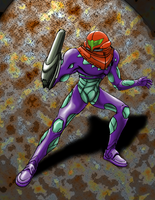 Fusion Suit Samus: Gravity by Stonechimes