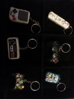 Video Game Controler Keychains by MadHouseTrinkets