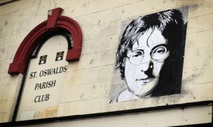 John Lennon Paste Up 5ft by 4f by artbydavidc