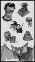 Monster Doodles by Boredman