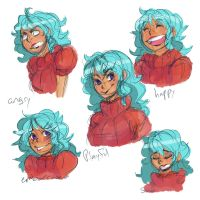 OPOC: Matte's expressions by Sogequeen2550