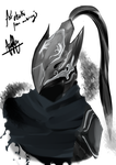 Artorias Headbust Birthday Gift for osusuki~ by Nethyrmea