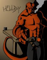 My first Hellboy in color by persephohi