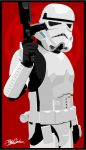 Stormtrooper pin-up by witchking08