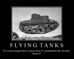 Flying Tank3 Motivation Poste by FireOps