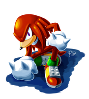 Knuckles the Echidna by sonicolas